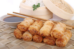 Asia food, spring roll Stock Image