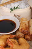 Asia food, spring roll Royalty Free Stock Photography