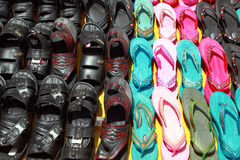 Asia footwear counter Royalty Free Stock Image