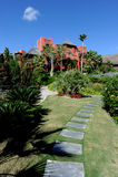 Asia Gardens Hotel, Benidorm, Spain Stock Images