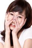 Asia girl. A beautiful Asia smiling girl stock photo