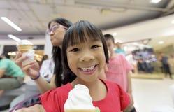 Asia Girl Eating Ice-Cream Stock Image