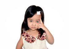 Asia girl head accident white isolate royalty free stock photos