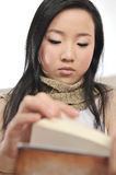 Asia girl reading book Royalty Free Stock Photo