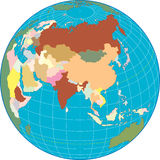 Asia on a Globe stock illustration