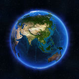 Asia globe. Elements of this image furnished by NASA Royalty Free Stock Images