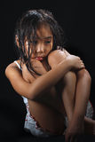 asia gullig flicka Royaltyfri Fotografi