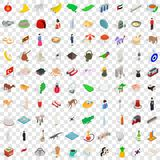 100 asia icons set, isometric 3d style. 100 asia icons set in isometric 3d style for any design vector illustration vector illustration