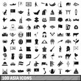 100 Asia icons set, simple style. 100 Asia icons set in simple style for any design vector illustration vector illustration