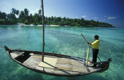 ASIA INDIAN OCEAN MALDIVES DHONI BOAT Stock Photography