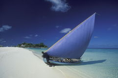 ASIA INDIAN OCEAN MALDIVES DHONI BOAT Stock Photos