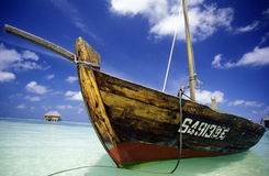 ASIA INDIAN OCEAN MALDIVES DHONI BOAT Stock Photo