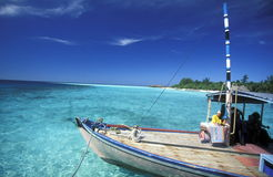 ASIA INDIAN OCEAN MALDIVES DHONI BOAT Stock Images