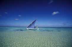 ASIA INDIAN OCEAN MALDIVES DHONI BOAT Royalty Free Stock Image