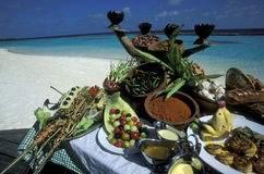 ASIA INDIAN OCEAN MALDIVES FOOD Stock Image