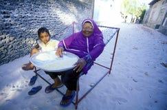 ASIA INDIAN OCEAN MALDIVES PEOPLE VILLAGE Stock Image