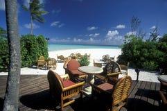 ASIA INDIAN OCEAN MALDIVES SEASCAPE BUNGALOW Stock Photos
