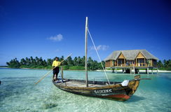 ASIA INDIAN OCEAN MALDIVES SEASCAPE BUNGALOW Royalty Free Stock Photography