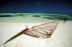 ASIA INDIAN OCEAN MALDIVES SURFING Royalty Free Stock Photo