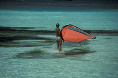 ASIA INDIAN OCEAN MALDIVES SURFING Royalty Free Stock Images