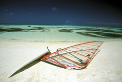 ASIA INDIAN OCEAN MALDIVES SURFING Royalty Free Stock Photography