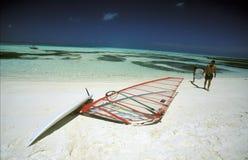 ASIA INDIAN OCEAN MALDIVES SURFING Royalty Free Stock Photos