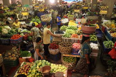 ASIA INDONESIA BALI DENPASAR MARKET PASAR BADUNG. The market Pasar Badung in the city of denpasar of the island Bali in indonesia in southeastasia Royalty Free Stock Photography