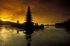 ASIA INDONESIA BALI LAKE BRATAN PURA ULUN DANU TEMPLE Stock Images