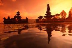 ASIA INDONESIA BALI LAKE BRATAN PURA ULUN DANU TEMPLE Royalty Free Stock Image