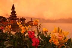 ASIA INDONESIA BALI LAKE BRATAN PURA ULUN DANU TEMPLE Royalty Free Stock Images