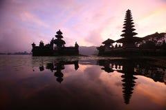 ASIA INDONESIA BALI LAKE BRATAN PURA ULUN DANU TEMPLE Royalty Free Stock Photo