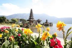 ASIA INDONESIA BALI LAKE BRATAN PURA ULUN DANU TEMPLE Royalty Free Stock Photography