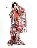 Asia japanese cosplay Kabuki girl Stock Images