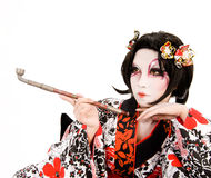 Asia japanese cosplay Kabuki girl Royalty Free Stock Image