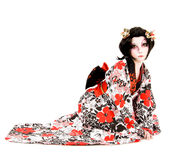 Asia japanese cosplay Kabuki girl Stock Image
