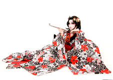 Asia japanese cosplay Kabuki girl Stock Photography
