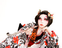 Asia japanese cosplay Kabuki girl Royalty Free Stock Photo