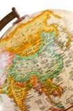 asia jordklot Arkivfoton