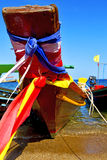 Asia in the  kho   bay isle white  e boat   thailand  and south Royalty Free Stock Photography