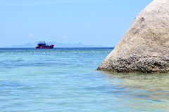 Asia  kho   bay isle white   pirogue  in thailand and south   se Royalty Free Stock Photography