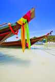 Asia in the  kho tao bay isle white  beach    china sea anchor Royalty Free Stock Photo
