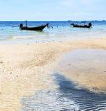 asia in the  kho tao bay isle white  beach     china sea anchor Stock Images