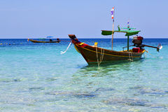 Asia in the  kho tao bay isle white  flag Stock Image