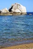 Asia  kho tao coastline   big  rocks  froth Stock Image