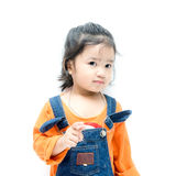 Asia kid girl Stock Images