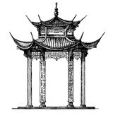 Asia, Korea, Japan, China. religious architecture Royalty Free Stock Photos