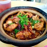 asia kurczaka claypot jajka karmowi ryżowi warzywa zdjęcia royalty free