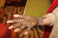 Asia la India, retrato un diseño del hennè imagen de archivo libre de regalías