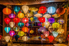 Asia lantern. On street market, Hoi an city, Vietnam Royalty Free Stock Images