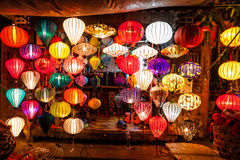 Asia lantern. On street market, Hoi an city, Vietnam Royalty Free Stock Image